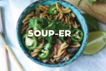 Soup-er / Warm & comforting dishes can be enjoyed year round!