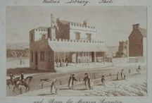 John Wallis's Marine Library AKA The Bedford Hotel / One of the first Regency houses to be built on the seafront in Sidmouth was Wallis's Marine Library and Reading Rooms. This was the early nineteenth-century meeting place for Sidmouth's fashionable summer visitors.  John Wallis (d. 1818) was a London game, book, map and print maker and seller, operating from 1775, when his business was called the Map Warehouse.  The Library was first opened to the Public, June 20th, 1809.