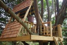 Swing sets/ Forts/ Tree Houses / Your kids are only little once!  They will love love to play in an outside play structure that you build together.  Get on it!