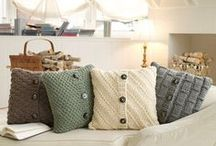 DIY Pillows / Some of these are obviously not DIY, but they could be and that's why I've added them here.