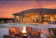 Outdoor Oasis / Whether it's a relaxing dip in the pool, enjoying a delicious meal made in your outdoor kitchen or unwinding fireside, everyone deserves the enjoy the beauty of outdoor living in Southwest Florida.