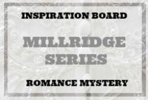 FICTION WRITING INSPIRATION - THE MILLRIDGE SERIES / Inspirations for my faux characters, THE MILLRIDGES, residents of my fictional town New Grace. They are a family of four. Merrick is an architect and Reese is a food stylist. His brother and sister, who live with them, aren't actually related, but don't tell the neighbors. They would have a peaceful life if it were not for all the scandal, mayhem and murder.