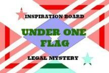 FICTION WRITING INSPIRATION - UNDER ONE FLAG / The year is 2065 and my characters are among the most powerful in the country, known throughout the world or rich beyond compare. But all is not wonderful, there is still plenty of scandal, mayhem and murder.
