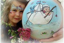 My belly's :) / Ben je zwanger en woonachtig in Noord Brabant? Vanaf 30 weken kun je een bellypaint laten maken!  www.chicart.nl Hieronder een greep uit de buiken die ik heb beschilderd: