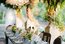 Entertaining table and serving decor