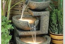 Water Features in the Garden / The various sounds of water heighten the experience of being in the garden. Whether to hide road noise, create tranquility or attract birds, water is always appreciated.