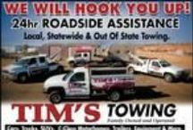 Tim's Towing / In a Jam? CALL TIM'S TOWING TODAY. 24 HOUR ROAD SIDE ASSISTANCE. CALL ~ 928-899-9124