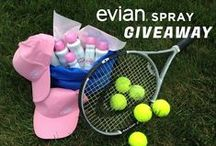 Evian Spray at the US Open