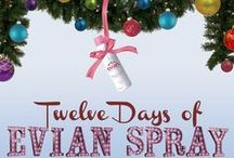 12 Day of Evian Spray / Celebrate the holiday season with glowing skin from Evian Facial Spray!