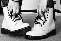 Dr.Martens Shoes / By greatly abrade the sole.