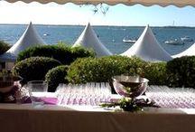 Votre cocktail sur le Bassin d'Arcachon / Pour vos cocktails, nous vous louons le matériel adéquat, nous mettons place vos tables et assurons un service de qualité  à la hauteur de vos attentes !