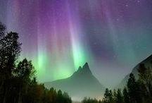 The northern lights/Aurora borealis/