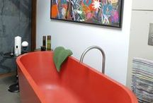 Bathrooms / Bathrooms with Durat solid surface material products