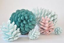 d.i.y. pine cones & co / żółędzie, szyszki pomysly na  dekoracje z lasu