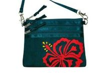 """Hawaiian Silkbags II / Indulge yourself with a Paia 3-zip Mini Crossbody bag made from hand dyed silk with silk satin lining.  The Paia bag measures 7"""" x 5 1/4"""", has a 3 full-size compartments and a removable 23"""" strap drop.  Our tropical silkbags are designed on Maui and handcrafted only for us with great care by a Fair Trade company in Vietnam, home of high quality silk and exquisite embroidery.  #silkbags #tropicalbag #tropicalaccessories #Maui #crossbodybag"""