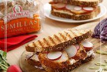 Recetario con Oroweat - Ideas para tus sándwiches / Inspiración para crear tus sándwiches con Oroweat: el especialista mundial multisemillas y cereales.
