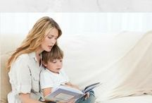 Kids reading / Themed books for kids, infographics, tips and much more : )