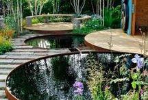 Water in de tuin / Een vijver maakt je tuin nog levendiger! En je hebt er helemaal geen grote tuin voor nodig, want vijvers zijn er in alle maten. Zelfs een oude ton of plastic bak kun je omtoveren tot een mini-vijver.