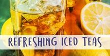 Refreshing Iced Teas / Everything from beautiful iced teas to crazy iced tea cocktails! Come here for great recipes and pictures.