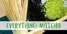 Everything Matcha / Here you can find matcha tools, matcha recipes -- everything to do with this wonderful powdered green tea.