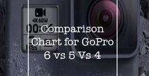 Comparison Chart for GoPro6 / Comparison Chart for GoPro6 Vs 5 Vs 4