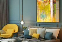 Yellow? 2018 interior design trend ... yep! / Want to see more? Visit my website www.kimberleejaynes.com