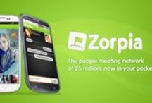 Zorpia Android App / Whether it's chatting, flirting or looking for love, the Zorpia Android App allows you to get in touch with people nearby - on the go!  Using your phone's cellular network or wi-if system, this 100% free app can help you find your match. Fast!