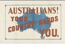 WWI Enlistment Posters / These posters were displayed in public places around Australia encouraging men to enlist. Prints are available from the Library Shop.