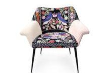 Patchwork chair la silla / la silla  Patchwork embroidery handmade chairs, armchairs, boho style, mid-century design  #lasilla #la silla