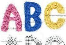 crochet letters diagrams