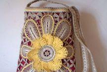 Malas / Bags / Renda de bilros - Esquemas e desenhos de malas    Bobbin lace - Patterns of bags