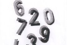 Números/ Numbers / Renda de bilros - Esquemas e desenhos de números    Bobbin lace - Patterns of numbers