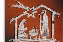 Natal / Christmas / Renda de bilros - Esquemas e desenhos de Natal    Bobbin lace - Christmas patterns
