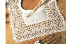 Acessórios / Accessories / Renda de bilros - Esquemas e desenhos de acessórios (golas, para bébé, etc)    Bobbin lace - Patterns of accessories (collars, for baby, etc)