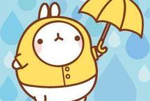Molang is beautiful (and cute) / Molang is a korean bunny, famous on the internet! (안녕! 나는 이 세상에서 제일 귀여운 토끼 야! ㅋㅋㅋ :3)