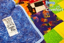 Touch of Comfort / Downy partnered with Quilts for Kids to help give comforting quilts to kids staying in Children's Miracle Network Hospitals. Generous quilters who donated time and energy to the cause share their work and messages of hope. / by Downy Fabric Softener