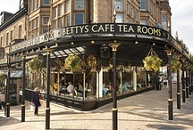Bettys Café Tea Rooms / When Bettys opened its doors for the first time in 1919 it was just as our founder, Frederick Belmont, had visualised – customers were greeted by a tempting array of delicious Yorkshire and Continental confections in the shop, and an elegant Café Tea Room served teas and meals in the traditional English style.   Nearly 100 years late, there are six Bettys Café Tea Rooms to explore, Bettys Harrogate, Bettys Harlow Carr, Bettys York, Bettys Stonegate, Bettys Northallerton and Bettys Ilkley.