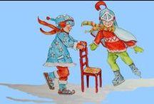 illustraties en posters / illustraties gemaakt door wieneke van leyen voor de website www.dewereldvanwiepje.nl en het liedjesboek 'k zing een liedje voor jou,