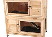 ✿ Large Indoor Rabbit Hutch ✿ / Inspiration for folks looking for a large indoor rabbit hutch, bunny cage, bedding or other accessories.