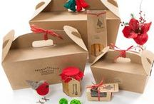 Gift food packaging / What better way to give a gift this Christmas than with our biodegradable packaging, including hampers, paper bags, tags & ribbons?