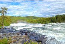 Sweden. Проезжая мимо и Национальный парк Storforsen / Красоты из окна авто и прогулка по водопадам и порогам.