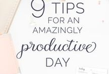 Productivity & Time Management / Tips on how to increase your productivity and improve time management to achieve your goals.  Motivation, productivity, time management, goals, positive life, personal growth, focus