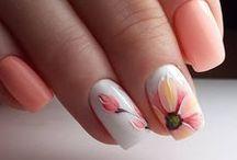 Orange & Yellow nails