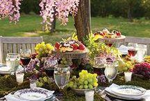 Party: Outdoors | Festa ao Ar livre / Picnic, garden party, back yard party, and any outside table setting  Festa ao Ar livre, no jardim