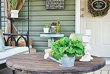 Country Cottage Farm Inspiration | / Country Cottage Farm Inspiration board with ideas for a farmhouse or a country cottage | Fazenda Chácara, Chalé, decoração country decor/ home decor/ house decor/ rustic decor