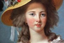 """Marie Antoinette / Ever since I read Antonia Fraser's biography on Marie Antoinette, I have been fascinated with her life.  She was young and naive going into the marriage with Louis XVI.  She never said """"let them eat cake,"""" and she loved the French people.  A tragic ending to what was a beautiful life. / by Sherri Wilshe"""