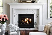 Mantel Inspiration / Inspiring mantel decor, great fireplaces and beautiful hearths