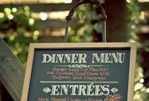 Menus & Cutlery / by Top Shelf Events