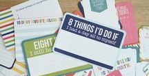 Project Life Card inspiration / Project Life, Projeto Vida, Scrapbook, Photobook, Project Life Cards Inspiration for you to start your own! Such a nice way of keeping memories