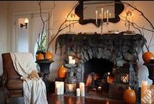 Halloween Fireplace Decorations / Halloween, it's the perfect time to add simple and easy little touches to your Fireplace Mantels and make your family room spooktacular! There's always a lot that you can do when you have plenty of time, but what happens when you need the room ready in a few hours. And under budget? Here's a collection of our favorite Halloween Decoration Ideas, for your fireplace mantel